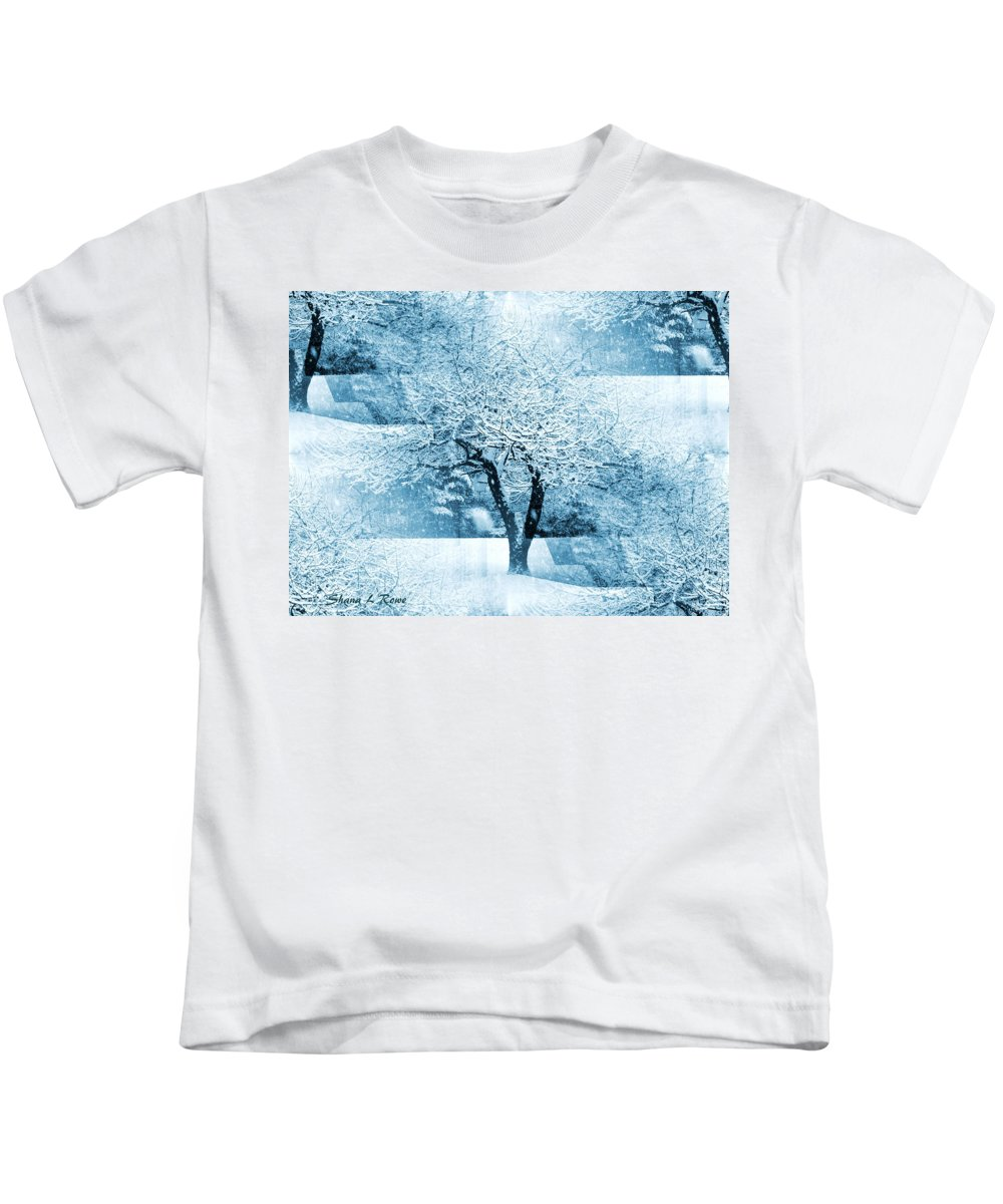 Trees Kids T-Shirt featuring the photograph Winter Orchard by Shana Rowe Jackson