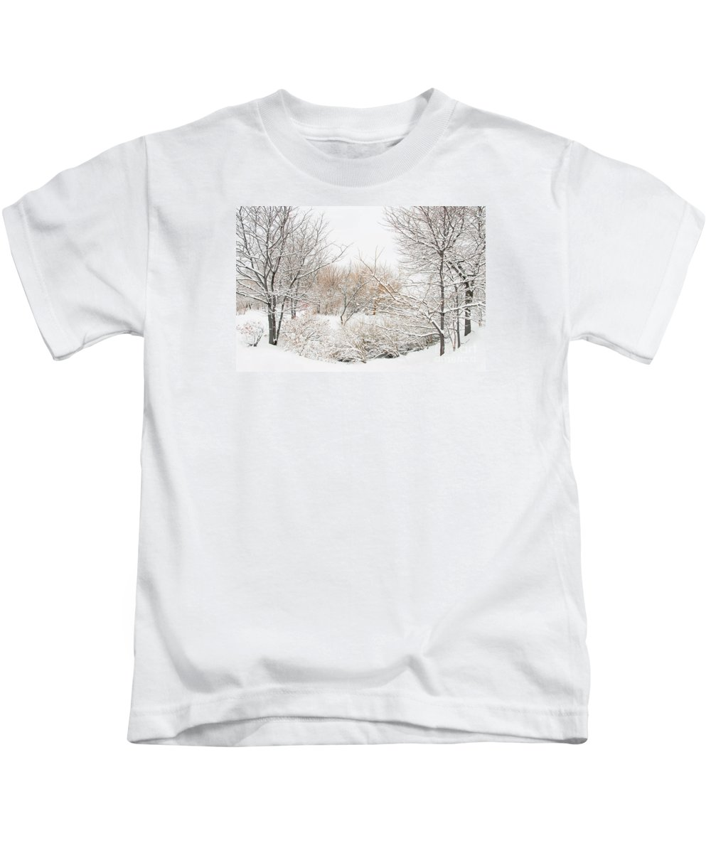 Winter Kids T-Shirt featuring the photograph Winter Solitude by Regina Geoghan