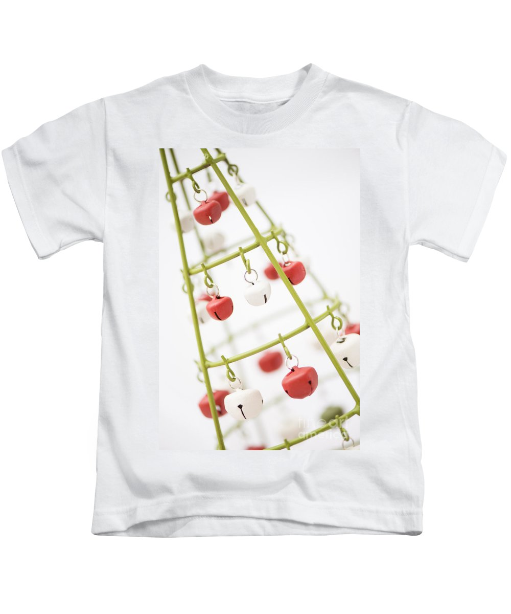 Abstract Kids T-Shirt featuring the photograph With Bells On by Anne Gilbert