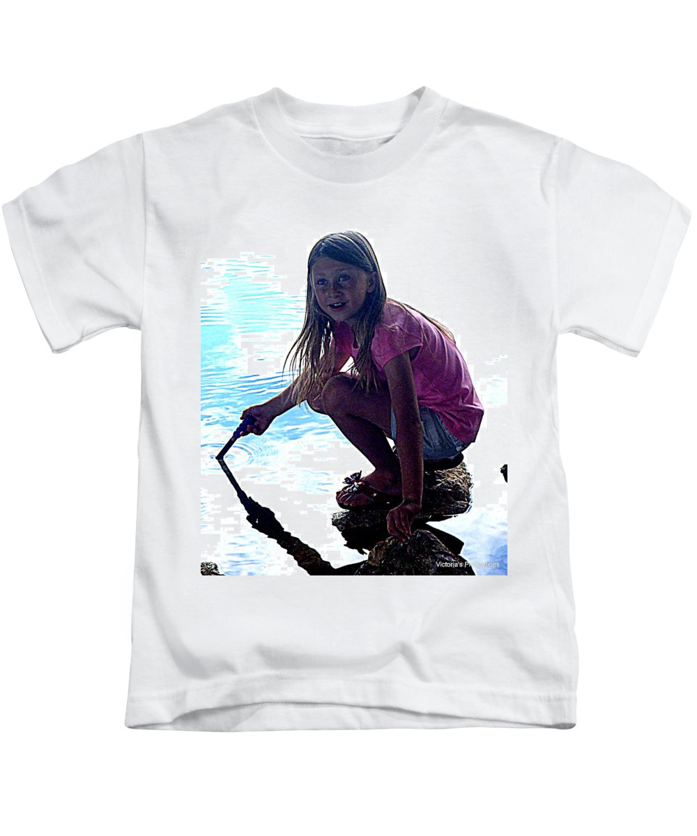 Kids T-Shirt featuring the digital art Wow Really by Victoria Beasley