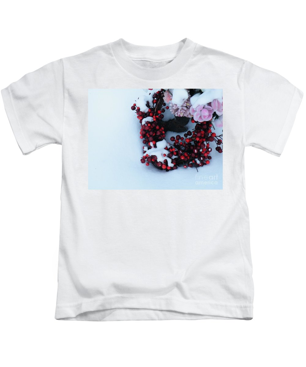 Funeral Kids T-Shirt featuring the photograph Wreathing Winter Sorrows by Brian Boyle
