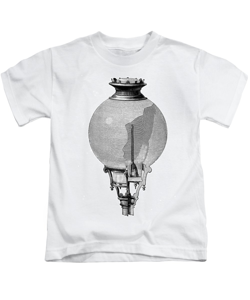 1876 Kids T-Shirt featuring the photograph Yablochkov Candle by Granger