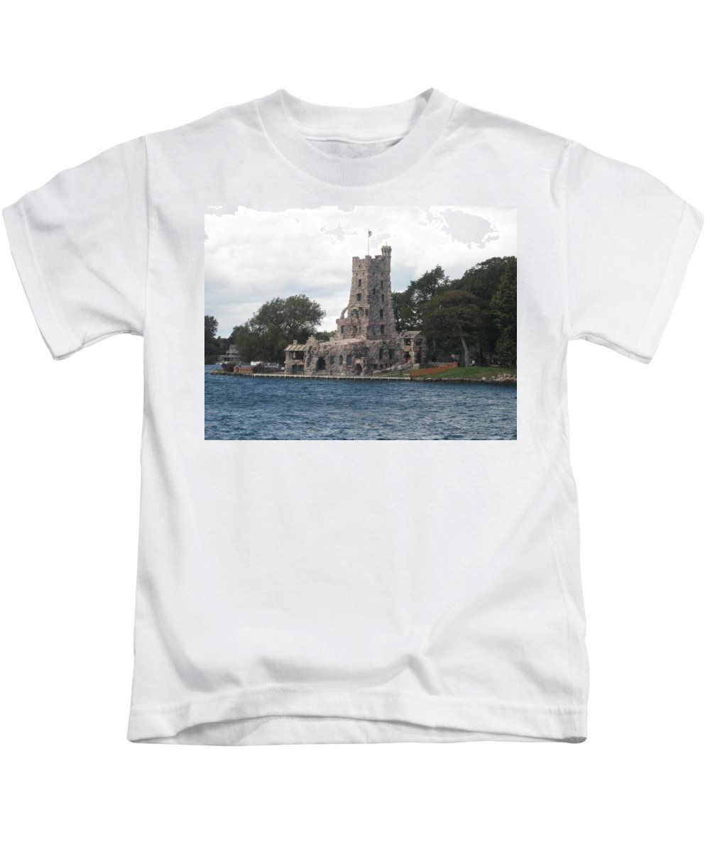 Island Castle Kids T-Shirt featuring the photograph Island Castle by Sonali Gangane