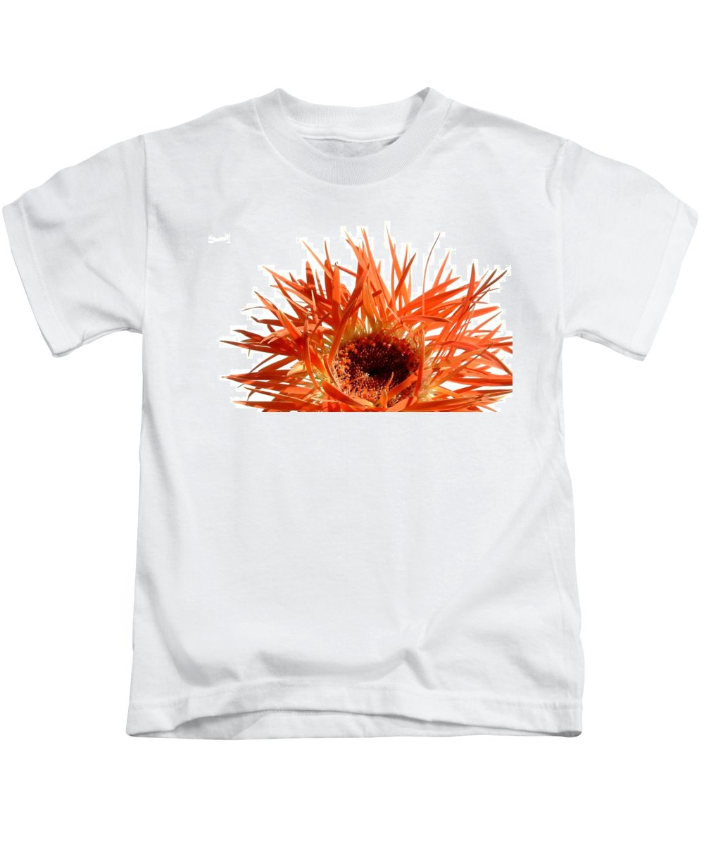 Gerbera Photographs Kids T-Shirt featuring the photograph 0687c-019 by Kimberlie Gerner Wells