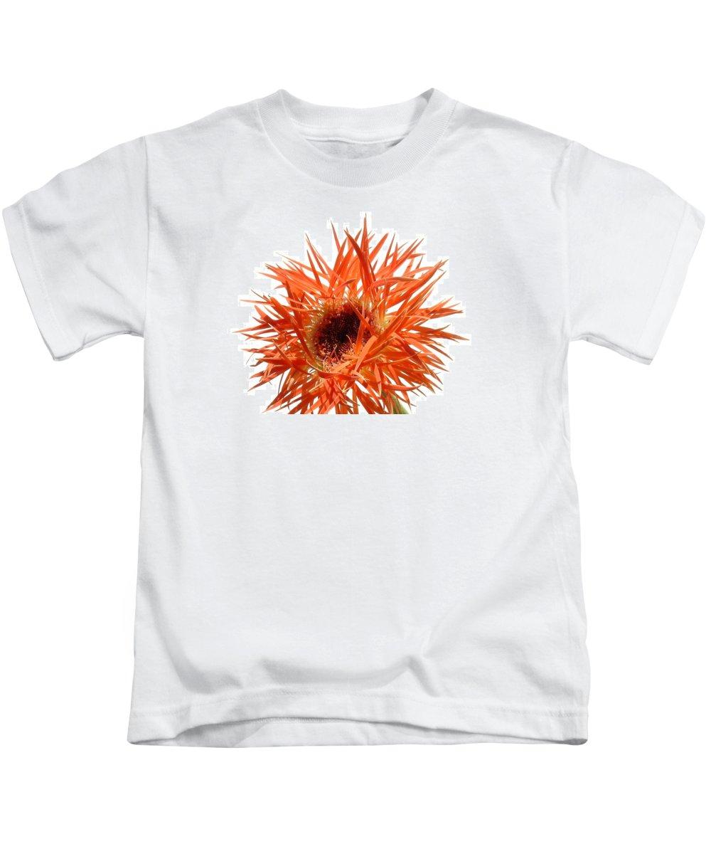Gerbera Photographs Kids T-Shirt featuring the photograph 0688c-005 by Kimberlie Gerner