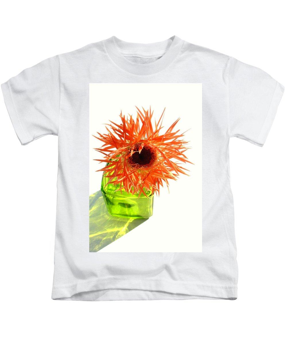 Gerbera Photographs Kids T-Shirt featuring the photograph 0690c-001 by Kimberlie Gerner