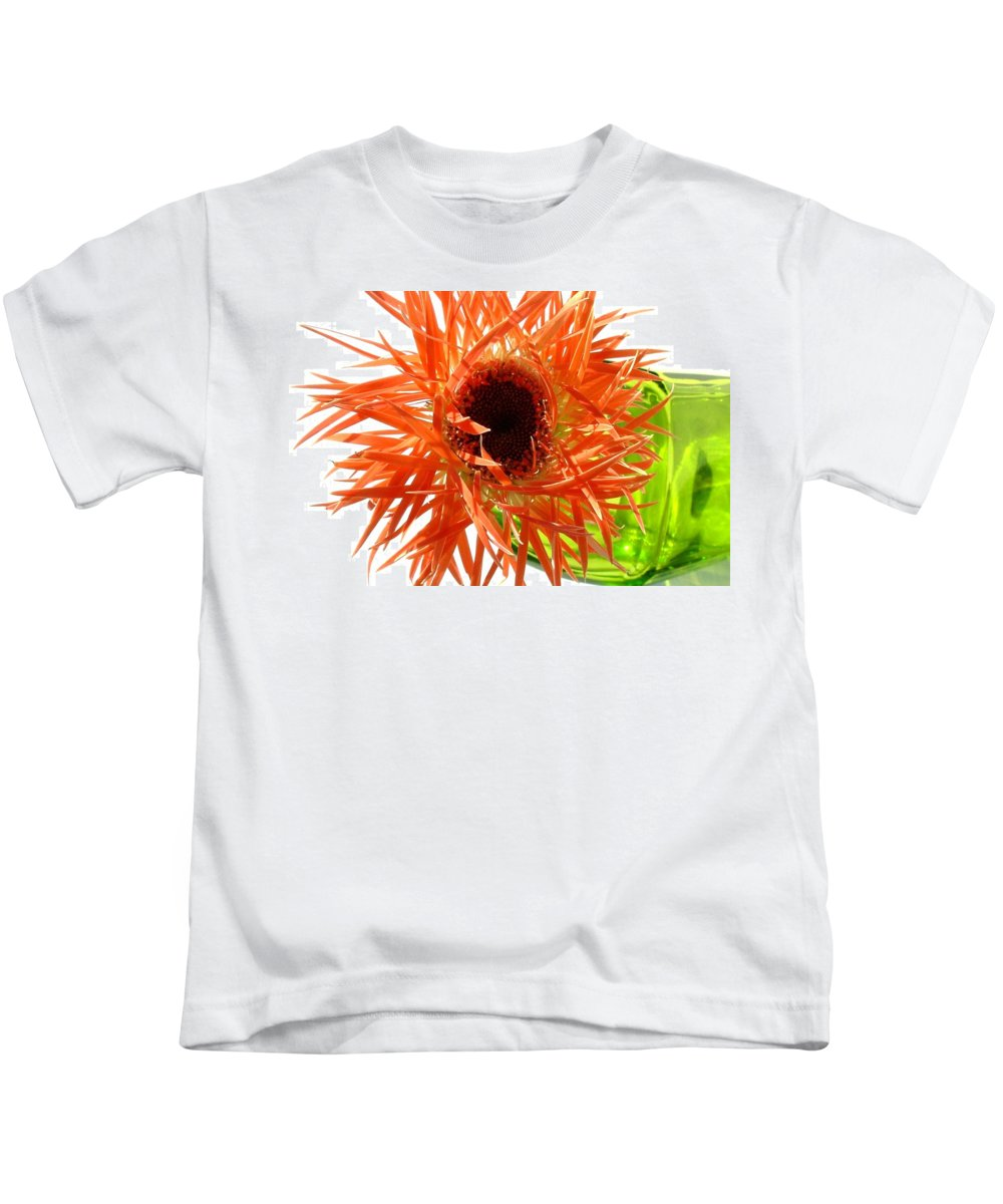 Gerbera Photographs Kids T-Shirt featuring the photograph 0690c-009 by Kimberlie Gerner
