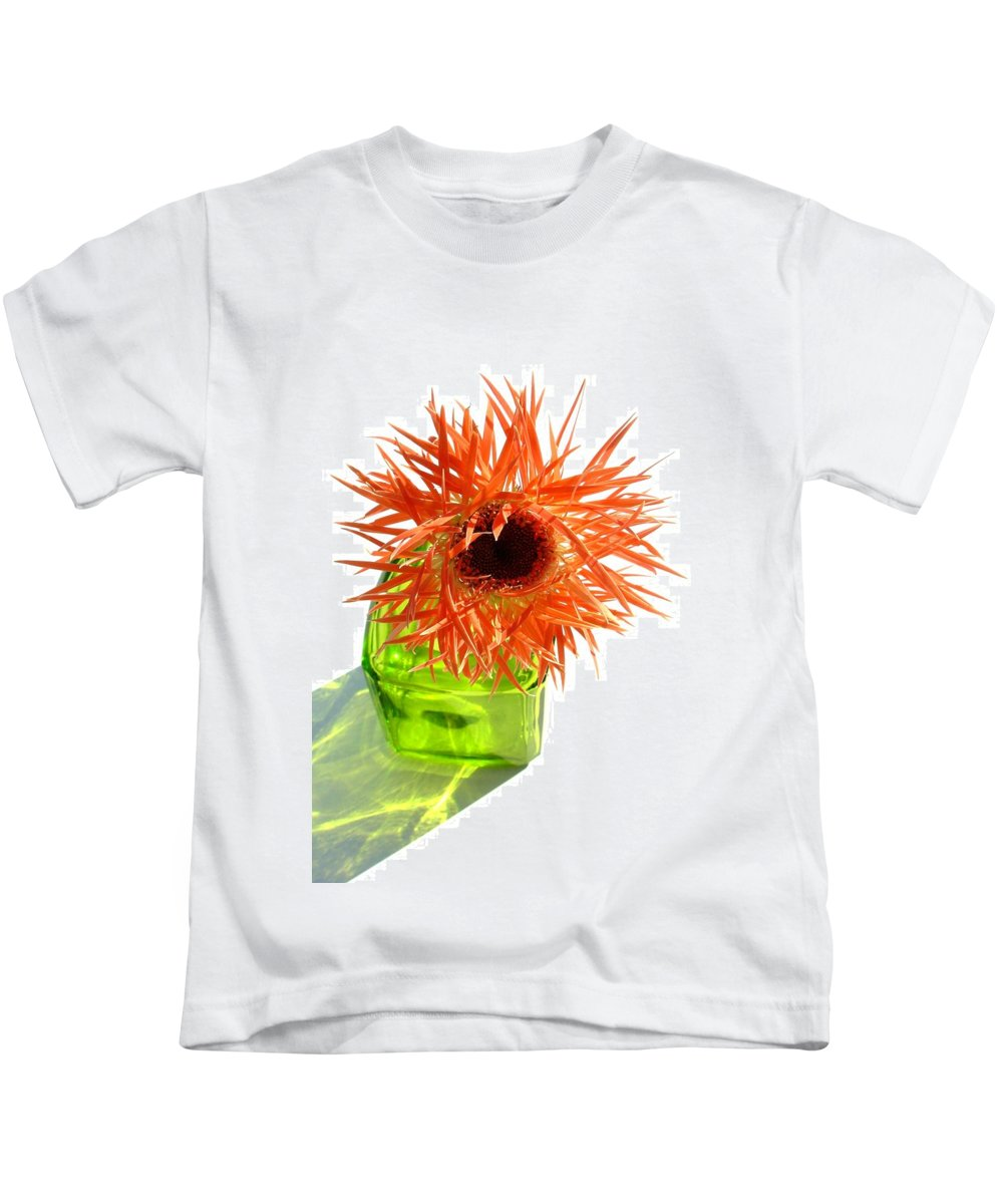 Gerbera Photographs Kids T-Shirt featuring the photograph 0690c-015 by Kimberlie Gerner