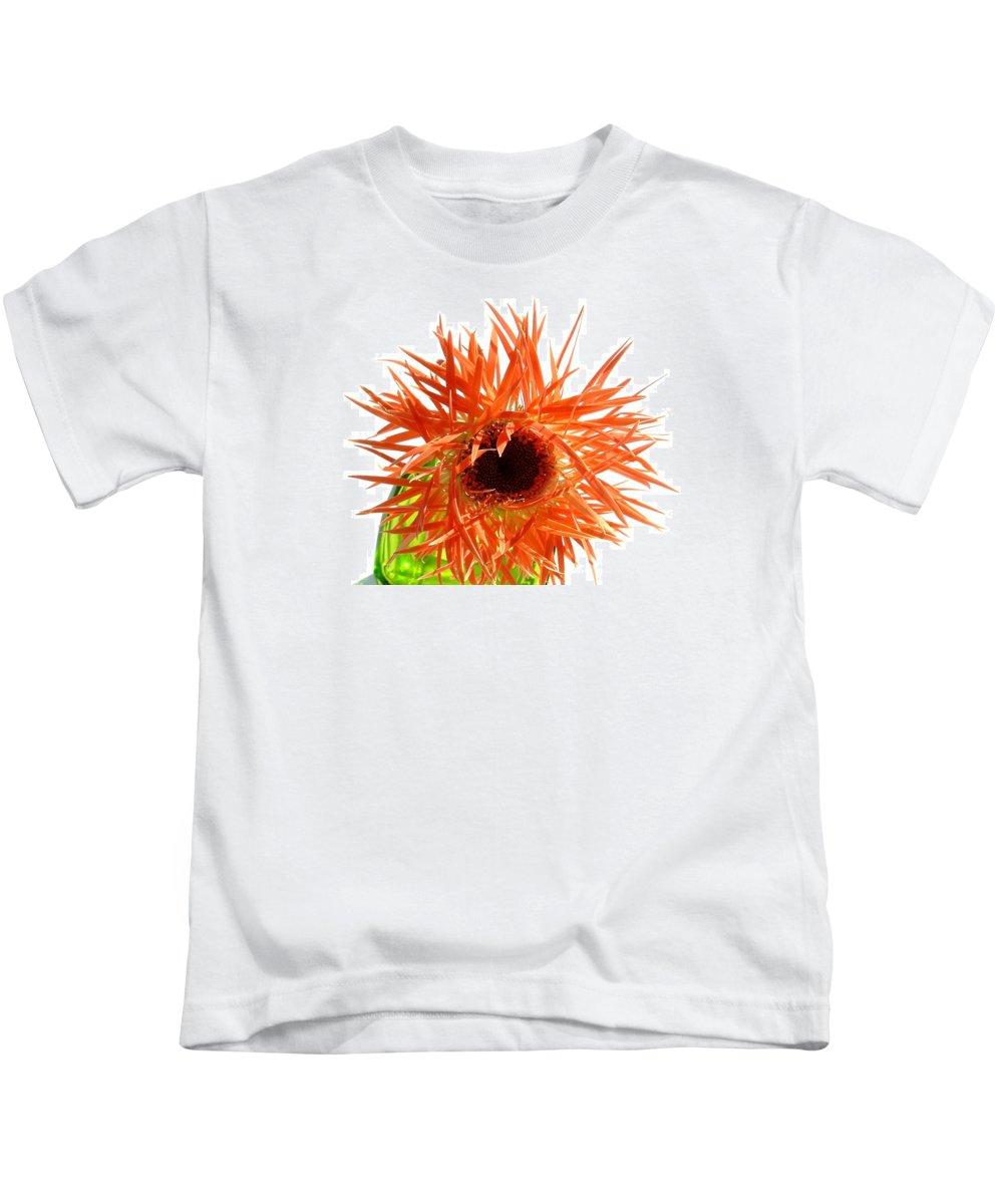 Gerbera Photographs Kids T-Shirt featuring the photograph 0690c-017 by Kimberlie Gerner