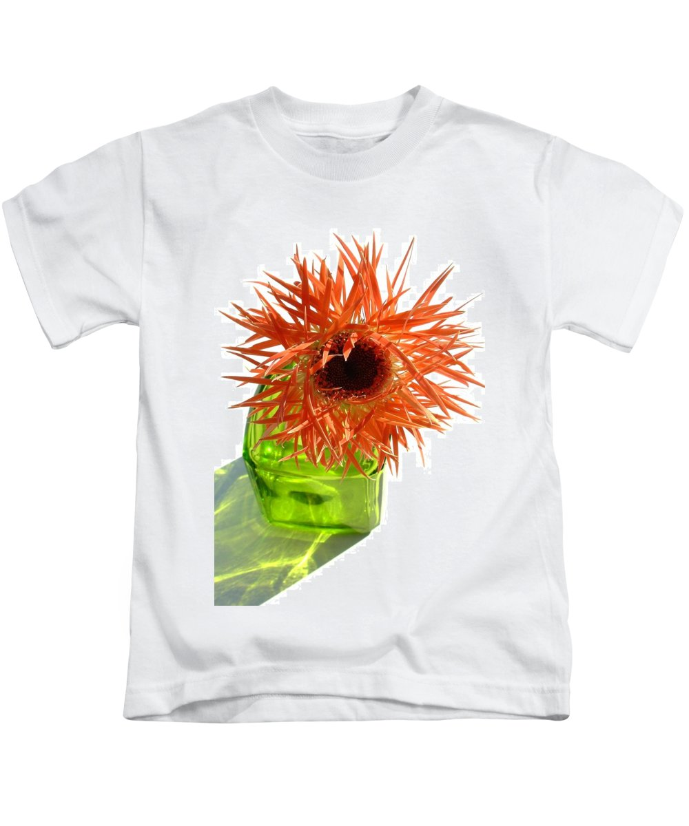 Gerbera Photographs Kids T-Shirt featuring the photograph 0690c-021 by Kimberlie Gerner
