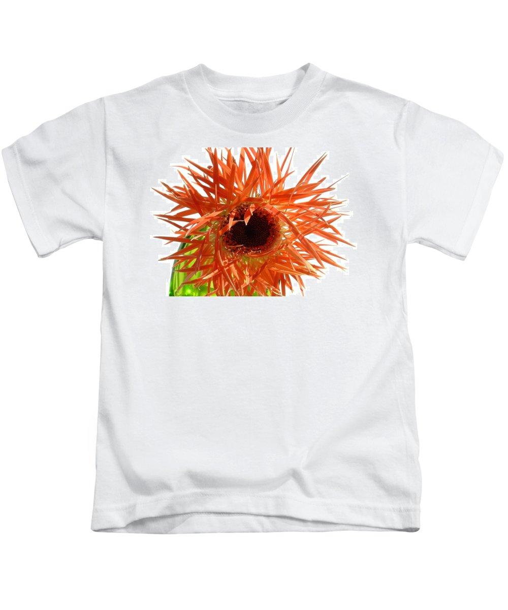 Gerbera Photographs Kids T-Shirt featuring the photograph 0690c-024 by Kimberlie Gerner