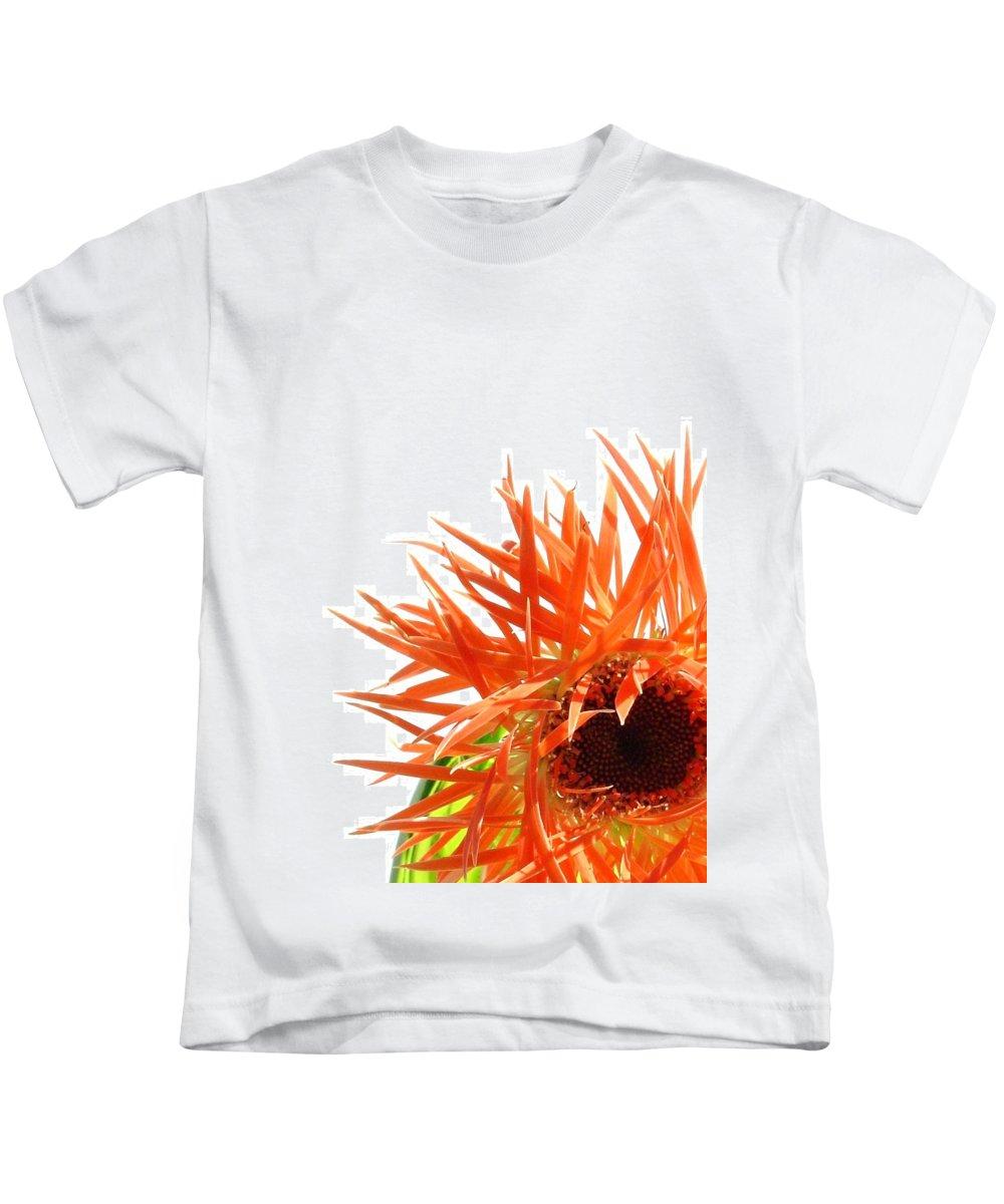 Gerbera Photographs Kids T-Shirt featuring the photograph 0690c-025 by Kimberlie Gerner