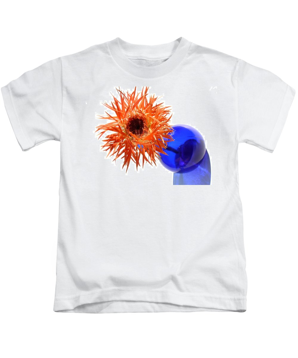 Gerbera Photographs Kids T-Shirt featuring the photograph 0701c by Kimberlie Gerner