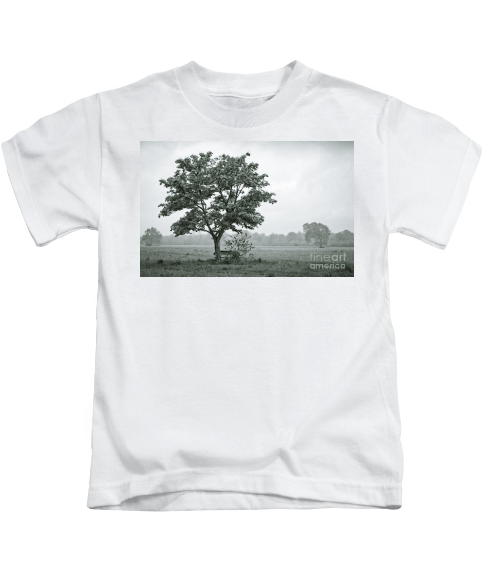 Grey Kids T-Shirt featuring the digital art August In England by Andy Smy