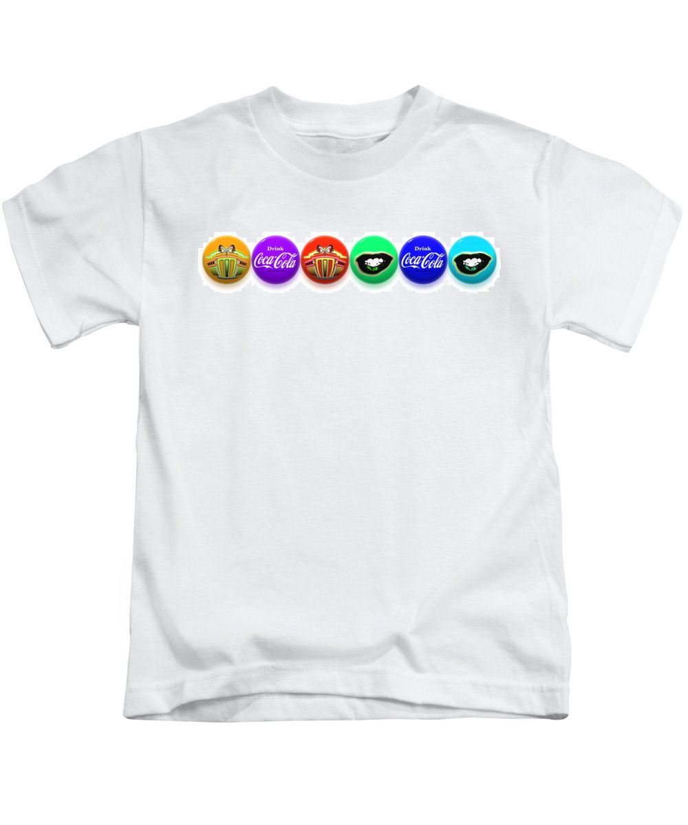 Andy Warhol Kids T-Shirt featuring the painting Balls by Charles Stuart