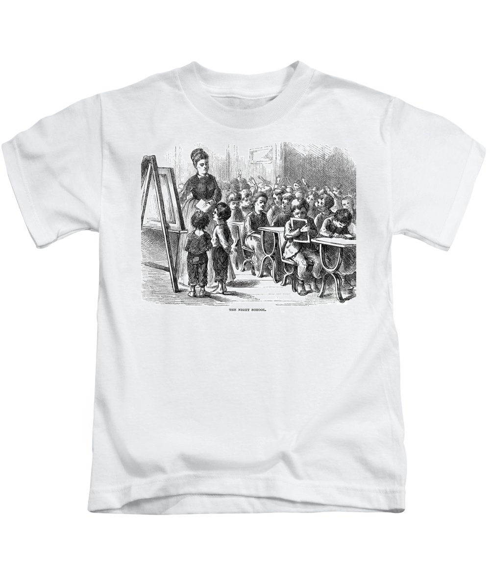 1873 Kids T-Shirt featuring the photograph Elementary School, 1873 by Granger