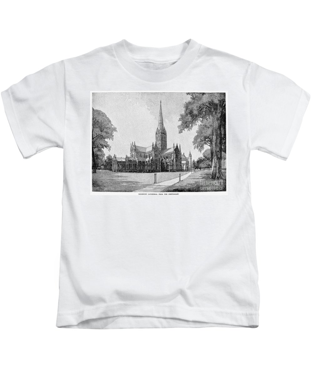 13th Century Kids T-Shirt featuring the photograph England: Salisbury by Granger