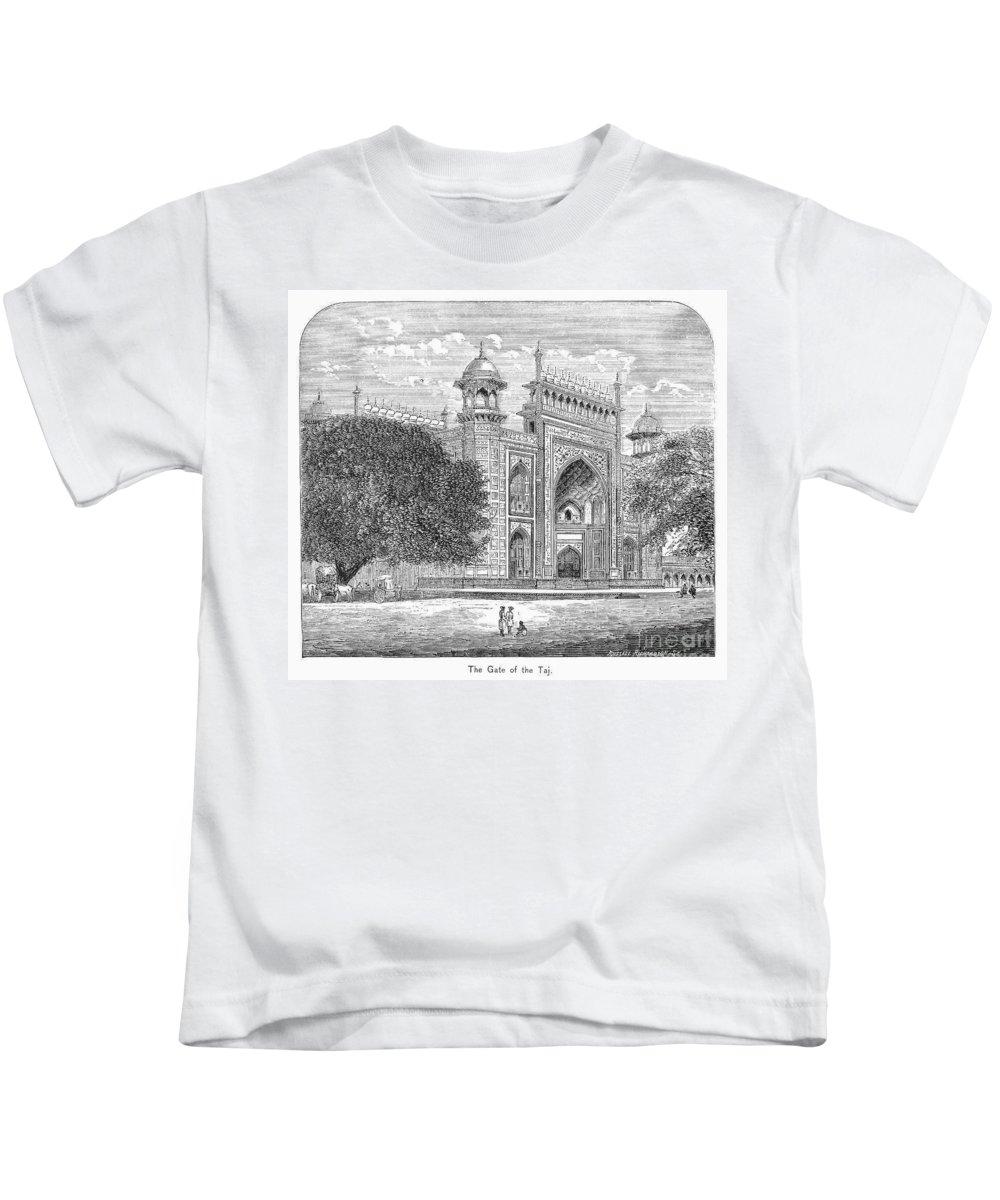 19th Century Kids T-Shirt featuring the photograph India: Taj Mahal by Granger