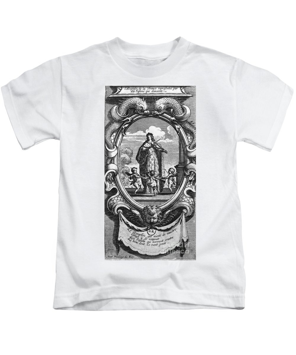 1661 Kids T-Shirt featuring the photograph Louis, Dauphin Of France by Granger