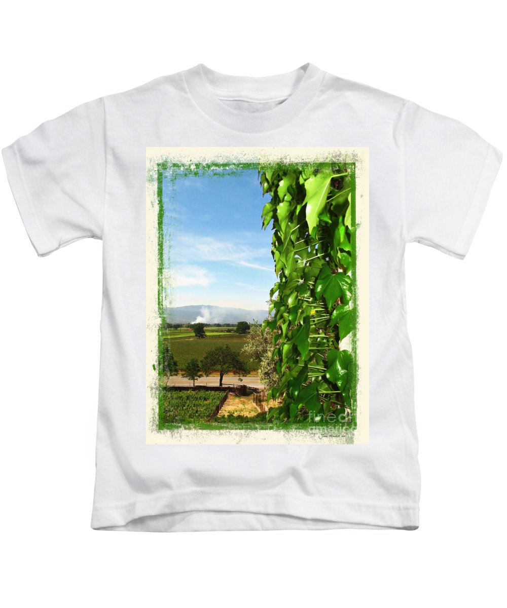 Napa Kids T-Shirt featuring the photograph Napa Looking Out by Joan Minchak