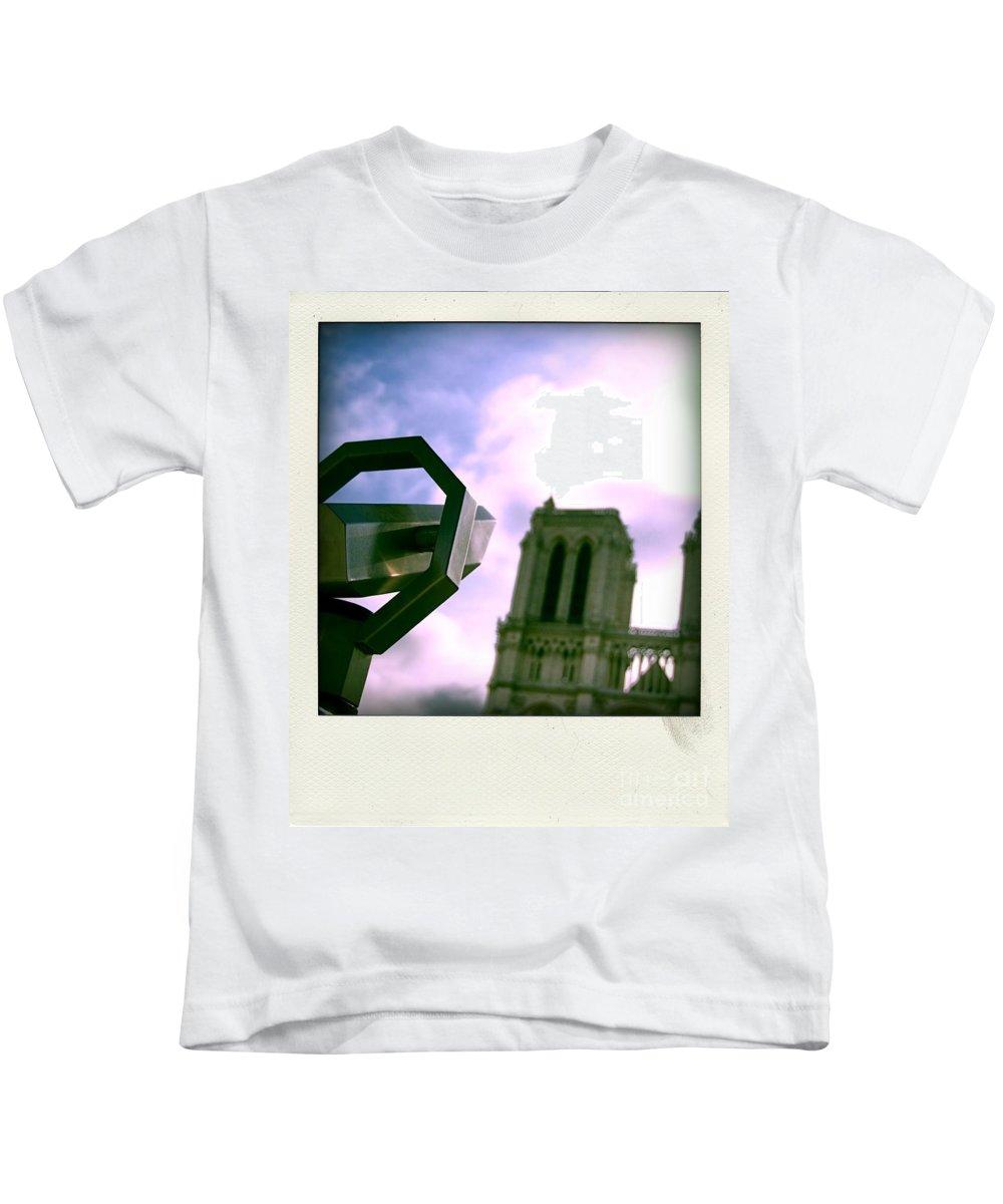 Paris Kids T-Shirt featuring the photograph Notre Dame De Paris. France by Bernard Jaubert