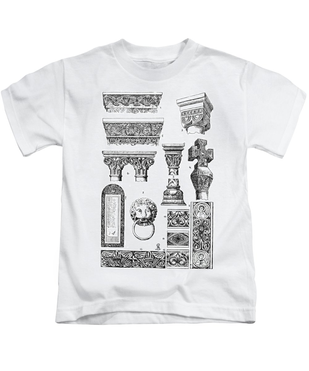 Ancient Kids T-Shirt featuring the photograph Romanesque Ornament by Granger