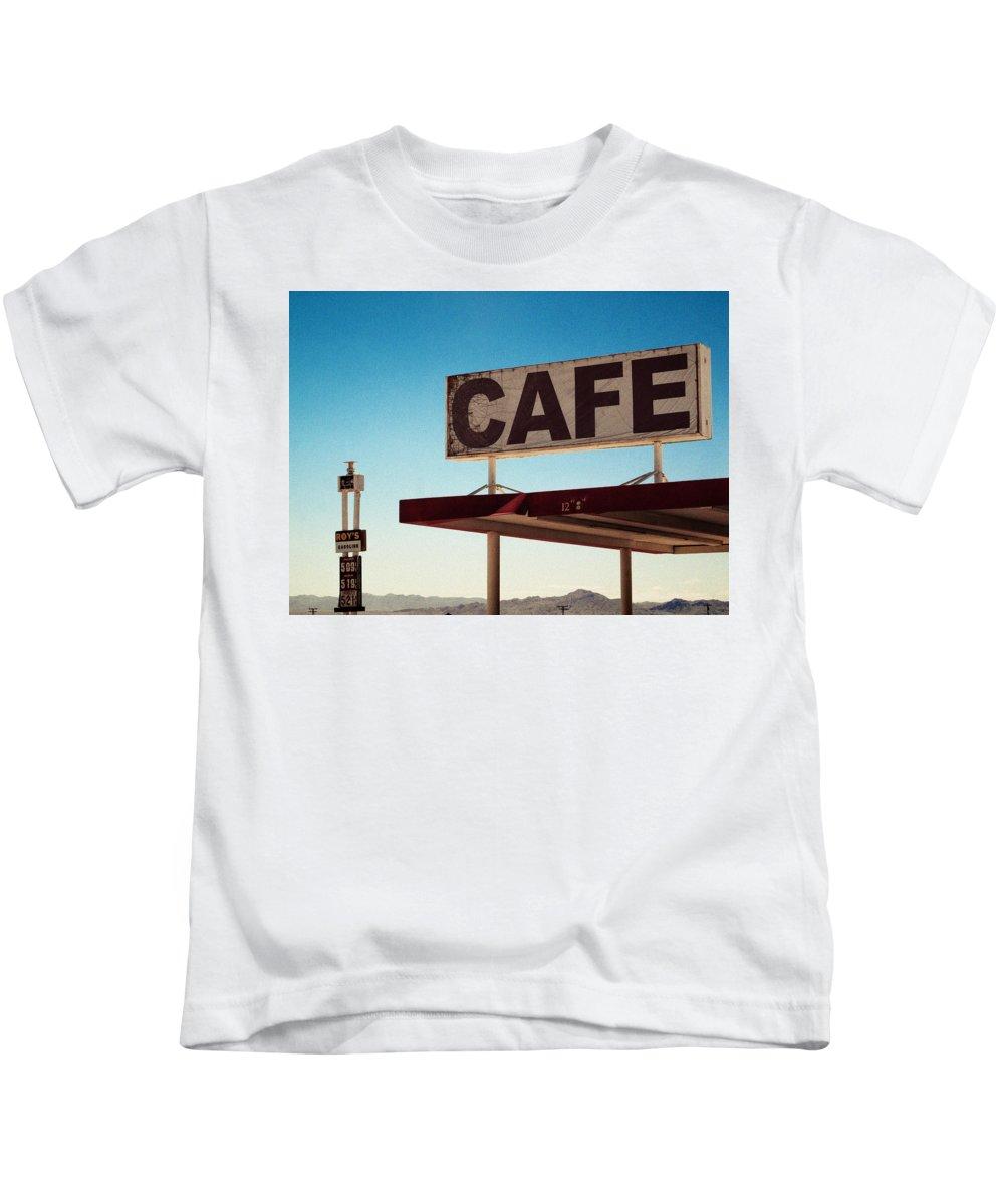 Aurica Voss Kids T-Shirt featuring the photograph Roy's Cafe by Aurica Voss
