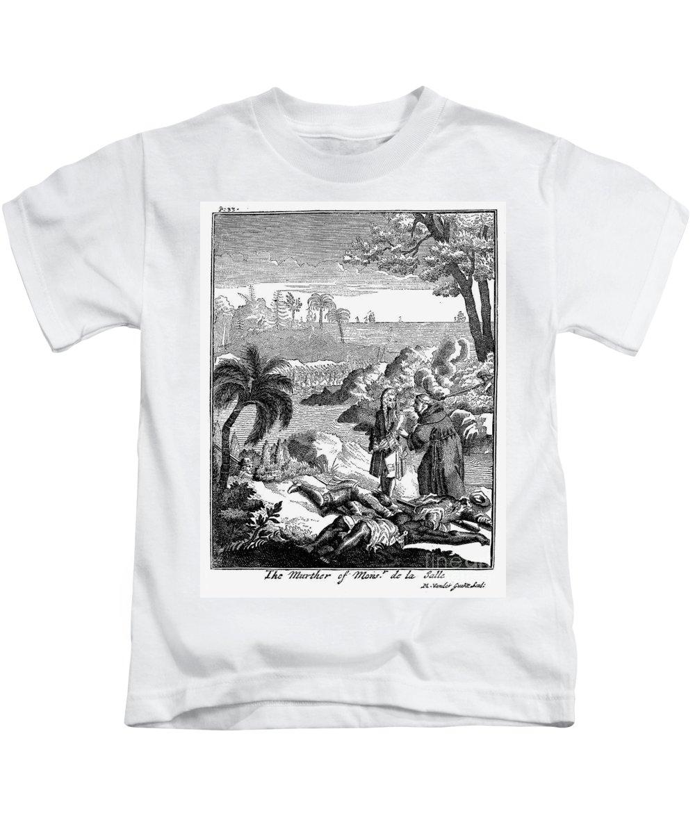 1687 Kids T-Shirt featuring the photograph Sieur De La Salle by Granger