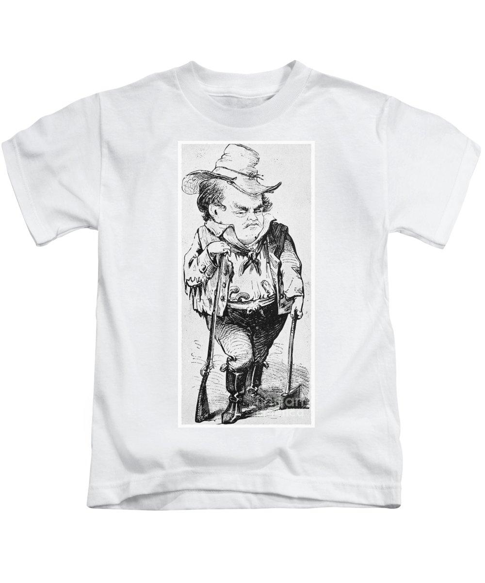 1860 Kids T-Shirt featuring the photograph Stephen Arnold Douglas by Granger