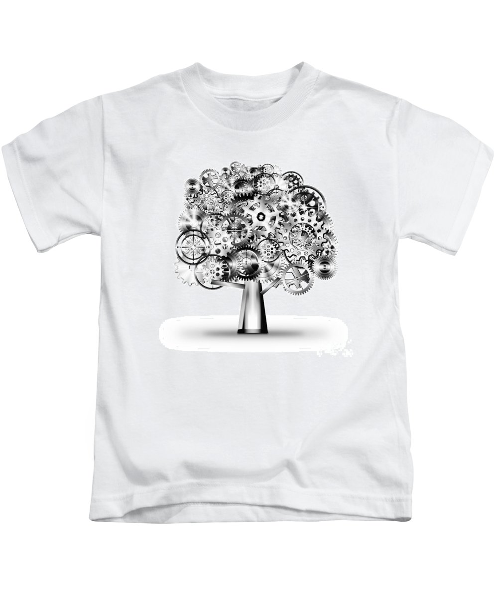 Art Kids T-Shirt featuring the photograph Tree Of Industrial by Setsiri Silapasuwanchai