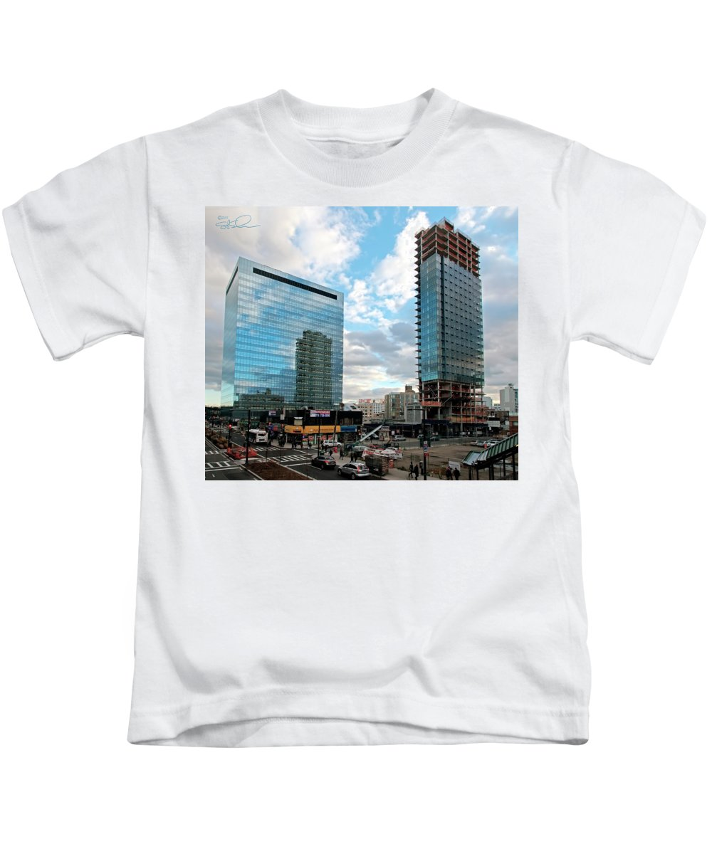 Condo Kids T-Shirt featuring the photograph View Interrupted by S Paul Sahm