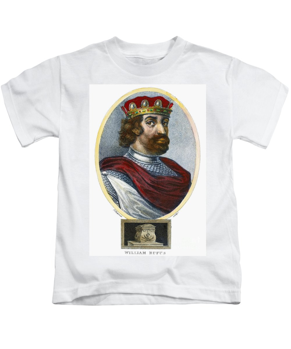 11th Century Kids T-Shirt featuring the photograph William II (1056-1100) by Granger