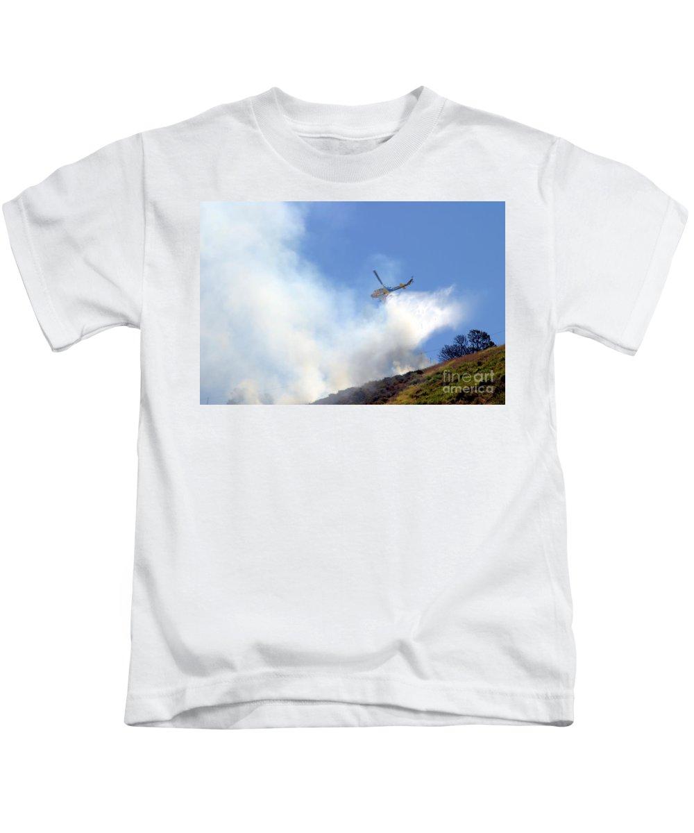 Ash Kids T-Shirt featuring the photograph Barnett Fire by Henrik Lehnerer