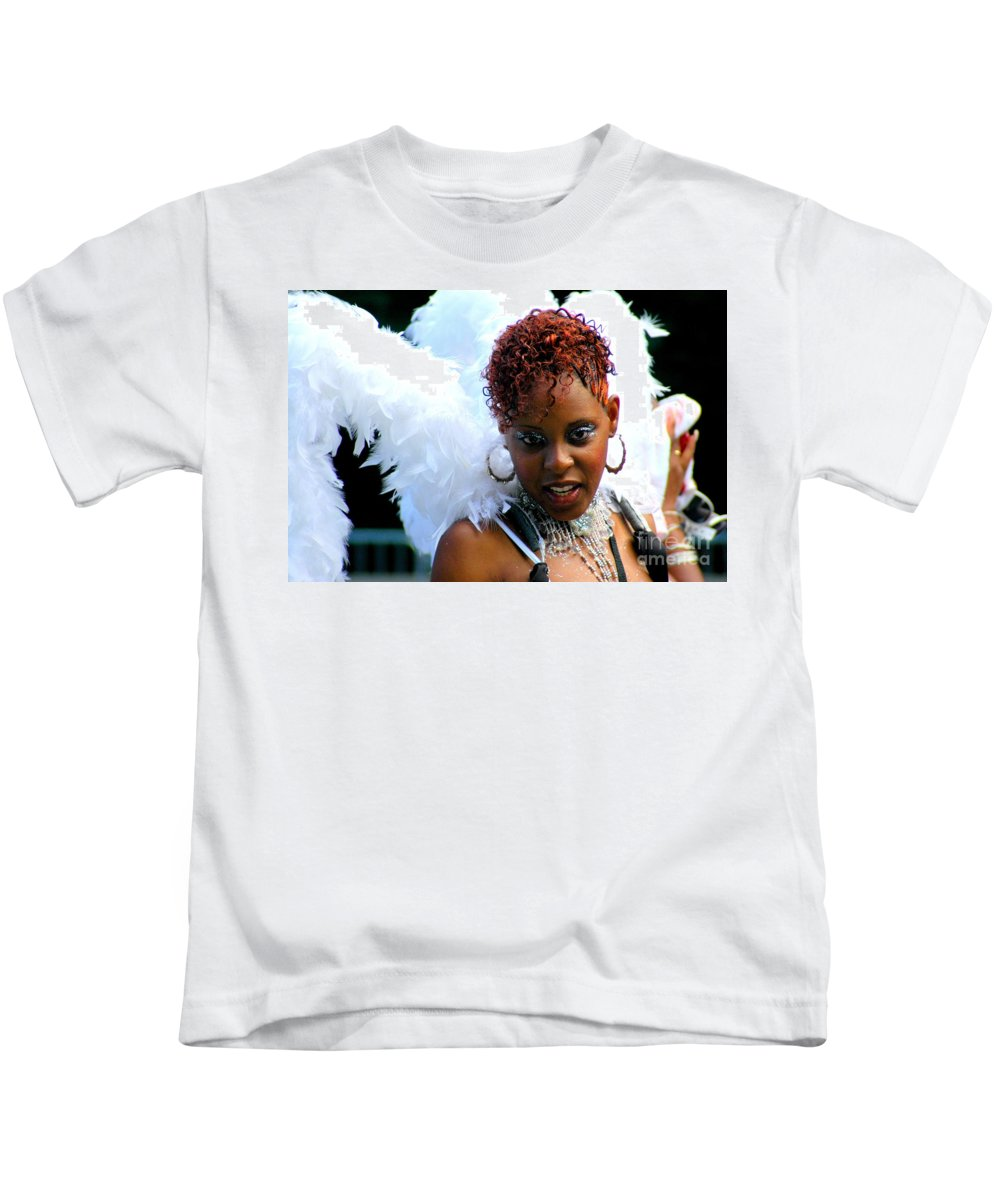 Parades Kids T-Shirt featuring the photograph West Indian Day Parade Brooklyn Ny by Mark Gilman