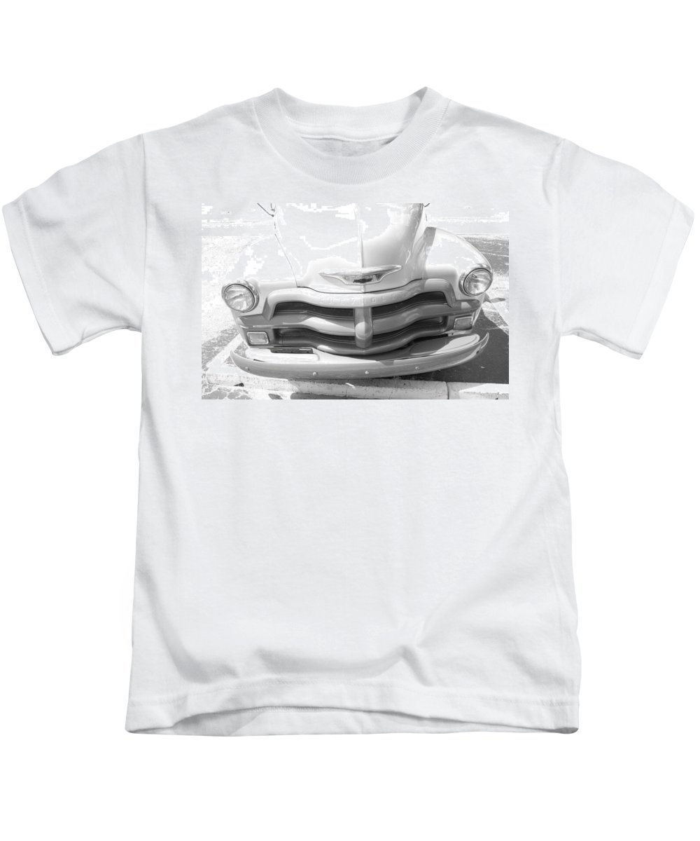 Chevrolet Kids T-Shirt featuring the photograph 1950's Chevy by Rob Hans