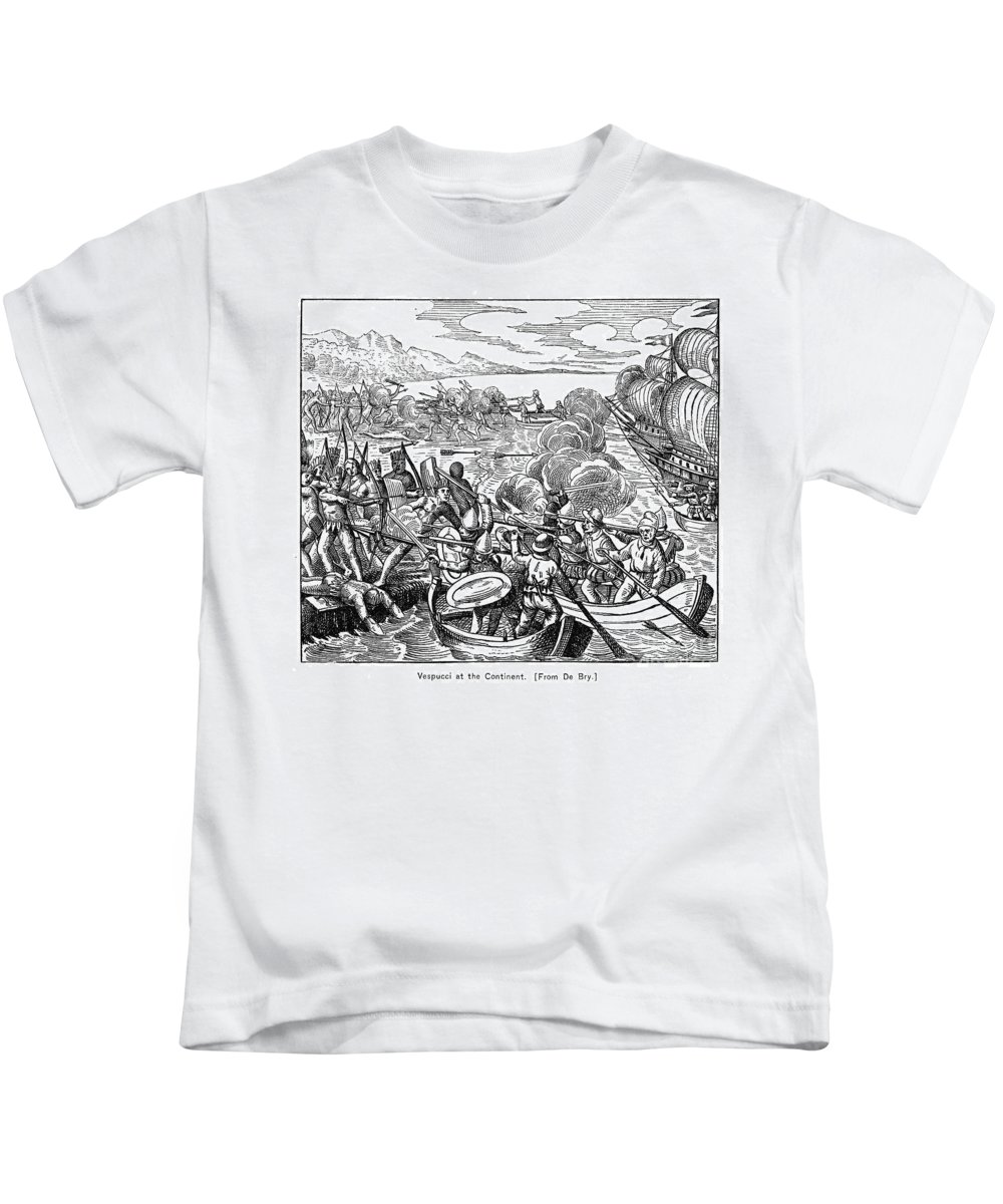 1499 Kids T-Shirt featuring the photograph Amerigo Vespucci (1454-1512) by Granger