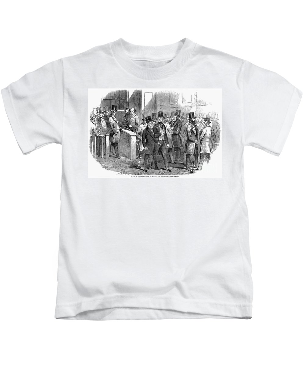 1849 Kids T-Shirt featuring the photograph Great Britain: Parliament by Granger