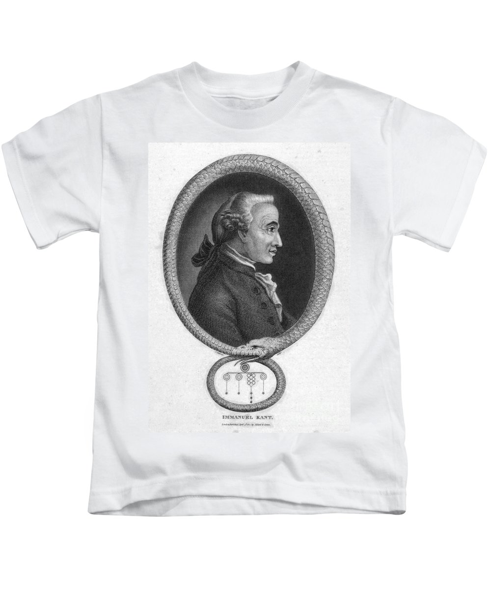 18th Century Kids T-Shirt featuring the photograph Immanuel Kant (1724-1804) by Granger