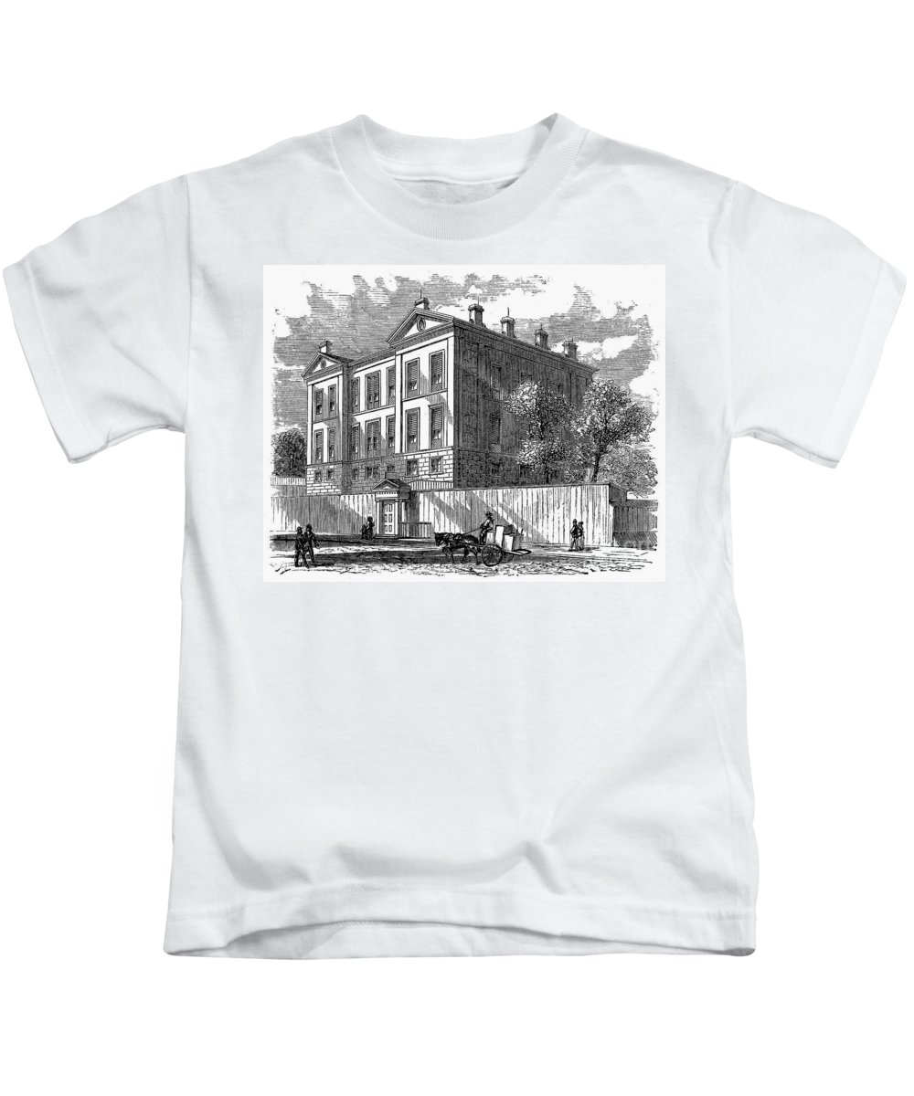 1868 Kids T-Shirt featuring the photograph New York: Medical College by Granger