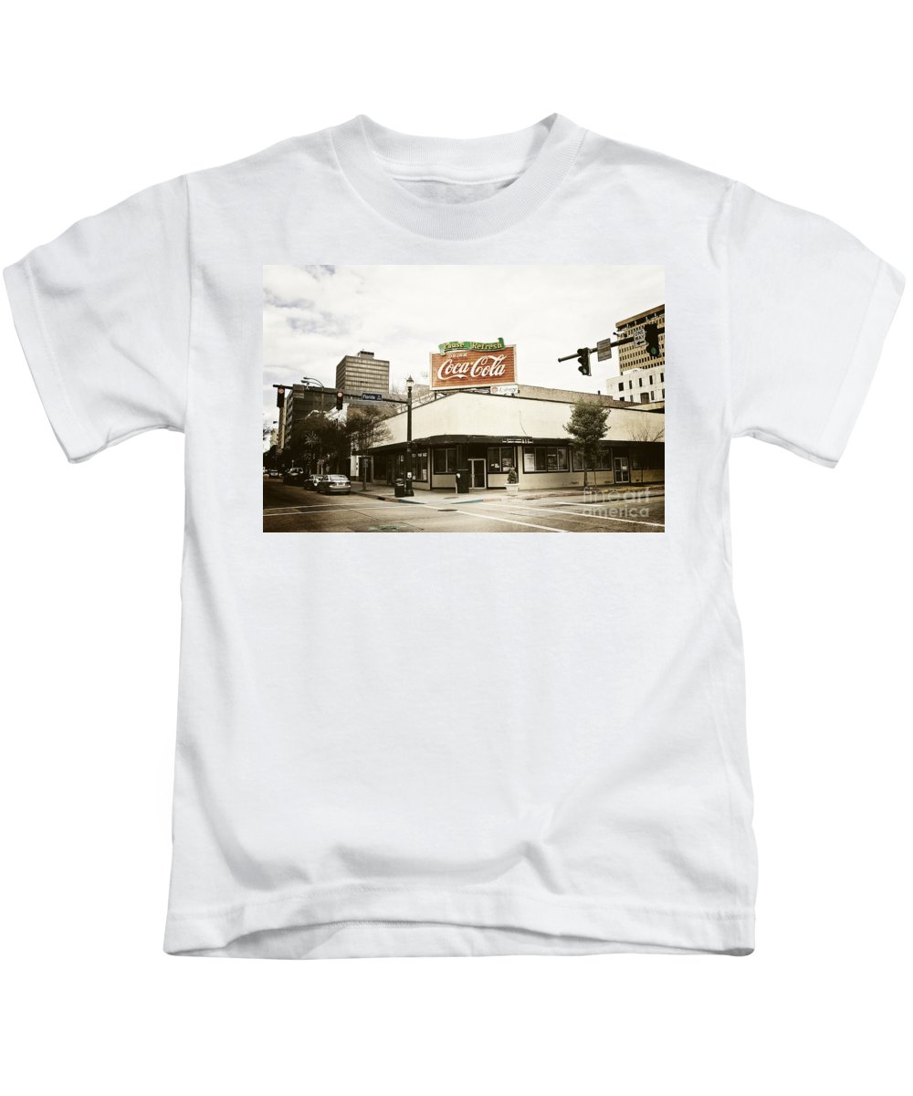 Vintage Wash Kids T-Shirt featuring the photograph On The Corner by Scott Pellegrin