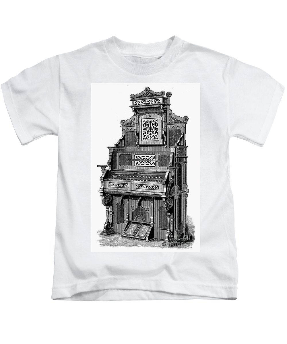 19th Century Kids T-Shirt featuring the photograph Organ, 19th Century by Granger