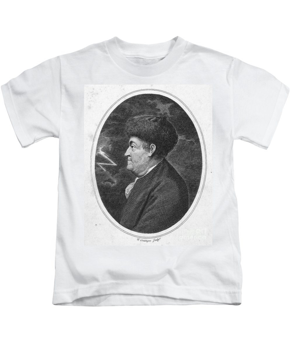18th Century Kids T-Shirt featuring the photograph Benjamin Franklin (1706-1790) by Granger