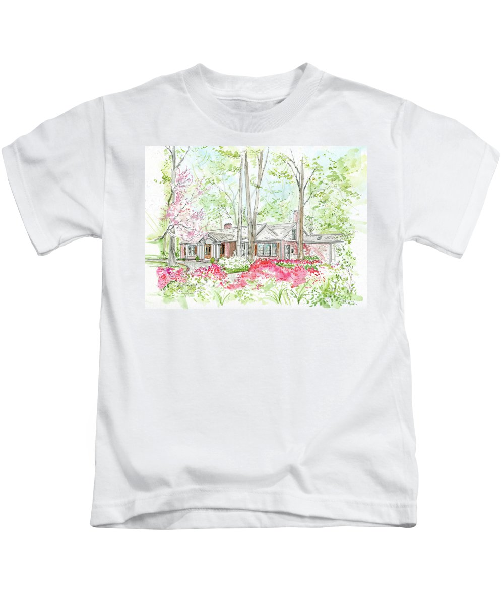 House Rendering Kids T-Shirt featuring the painting Custom House Rendering Sample by Lizi Beard-Ward