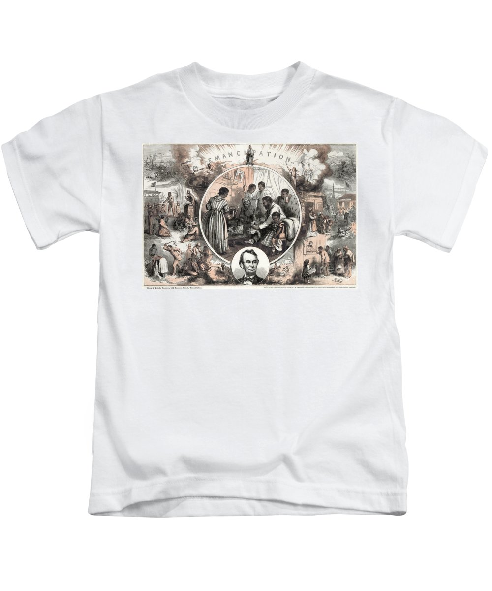 1863 Kids T-Shirt featuring the photograph Emancipation Proclamation by Granger