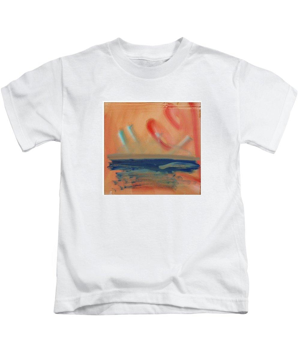 Tsunami Kids T-Shirt featuring the painting Tsunami by Charles Stuart