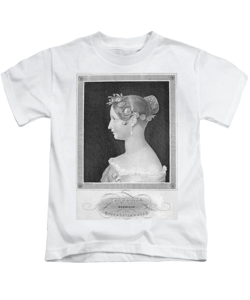 1840 Kids T-Shirt featuring the photograph Victoria Of England by Granger