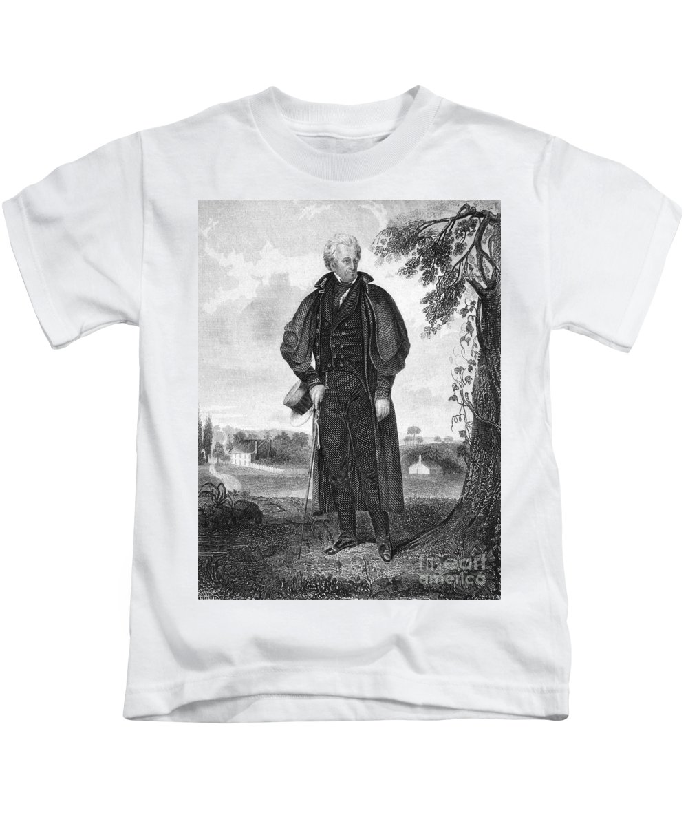 19th Century Kids T-Shirt featuring the photograph Andrew Jackson (1767-1845) by Granger