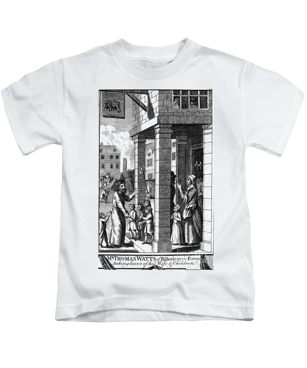 16th Century Kids T-Shirt featuring the photograph Foxe: Book Of Martyrs by Granger