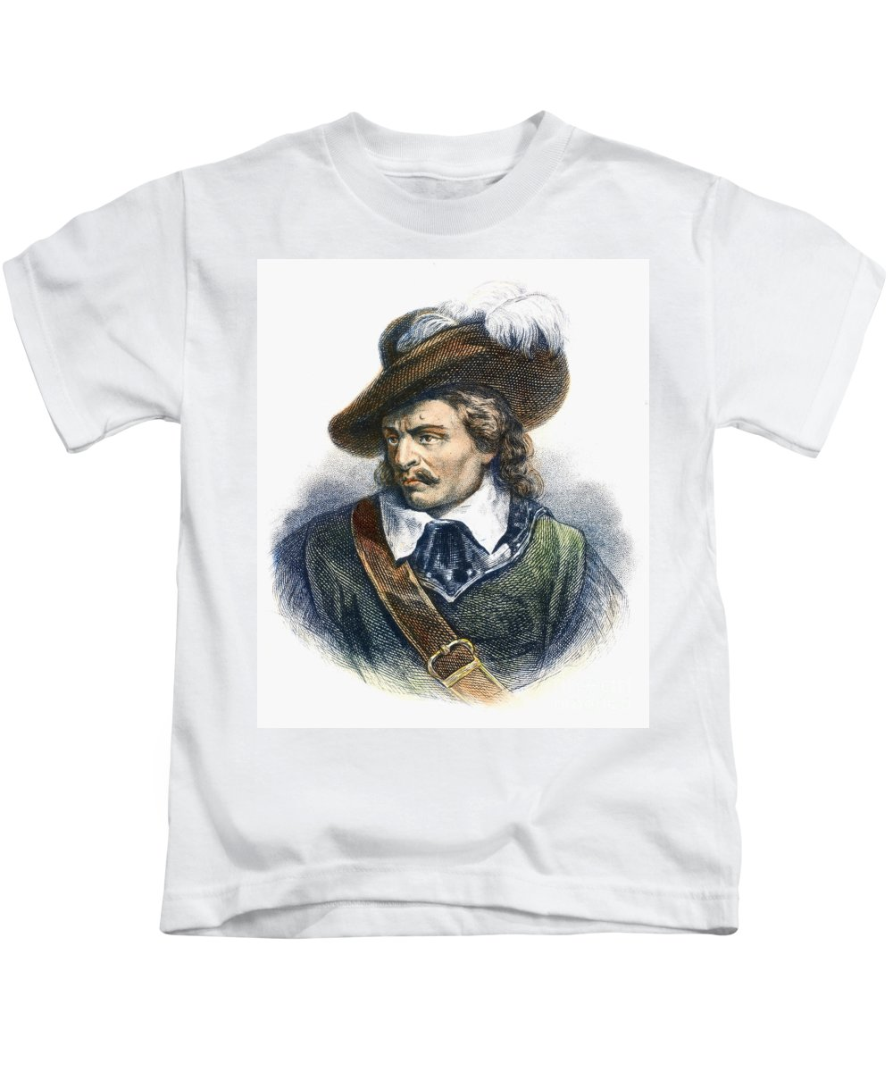 Cromwell Kids T-Shirt featuring the photograph Oliver Cromwell (1599-1658) by Granger