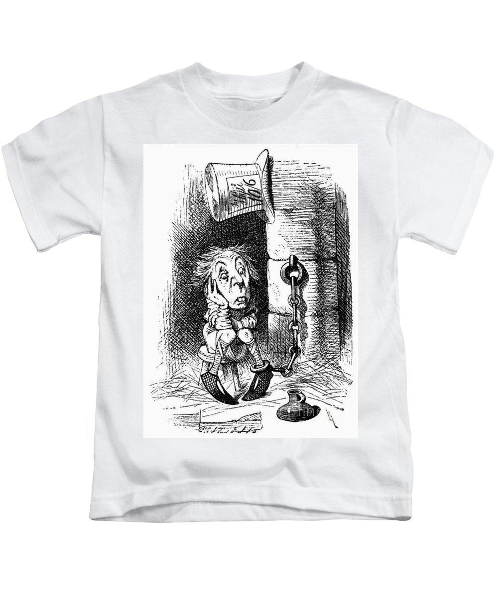 1872 Kids T-Shirt featuring the photograph Carroll: Looking Glass by Granger